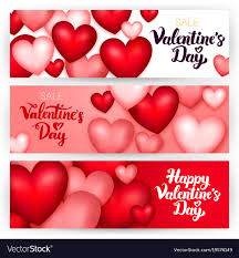 happy valentines day banner happy day banners royalty free vector image