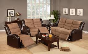 Sofa Leather And Fabric Combined by Italian Leather Reclining Sofas And Love Seat Which Combined With