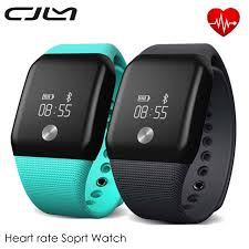 bracelet heart rate monitor images V18 smart wristband blood oxygen fitness tracker waterproof jpg