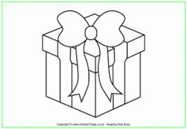 christmas present colouring pages