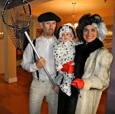 family costumes halloween cruella de vil and spot from 101 dalmatians famous halloween