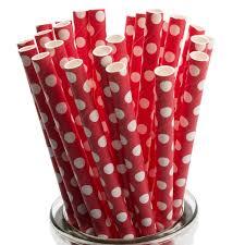 paper straws white polka dot on paper straws x 25 yolli