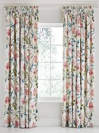 Lined Curtains Sanderson Clementine Lined Curtains 90 X 90 Duck Egg House Of Fraser