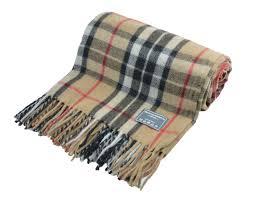 Brown Tartan Rug New Classic Scottish Wool Tartan Blanket Throw Rug Gift Various