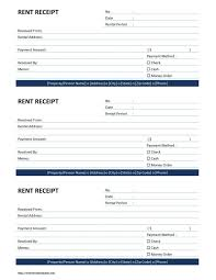 rent receipt template free microsoft word templates personal