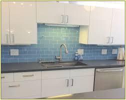 blue glass tile kitchen backsplash blue glass backsplash tile zyouhoukan