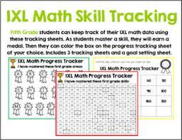 fifth grade ixl tracking bundle by lockwood u0027s little learners tpt