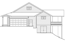 hillside house plans for sloping lots house plans with basement lovely walkout ranch plan surprising