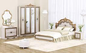 Schlafzimmer Hochglanz Beige Set Sicilia Schlafzimmer Beige Gold