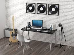Home Recording Studio Design Home Recording Studio 3d Render Stock Photo Picture And Royalty