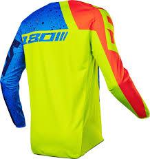 kids motocross gloves fox youth 180 nirv mx shirt kids motocross yellow blue fox gloves