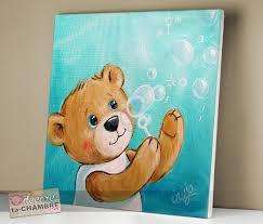 tableaux chambre enfant tableau ourson déco nounours pour chambre enfant vente tableaux