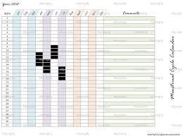 printable calendar 2016 etsy menstrual calendar printable printable calendar