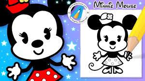 draw cute minnie mouse chibi kawaii cute easy disney