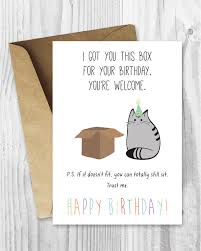 happy birthday from the cat card grumpy kitty funny birthday card