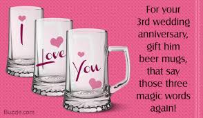 wedding anniversary gift ideas for simply awesome 3rd wedding anniversary gift ideas for husband
