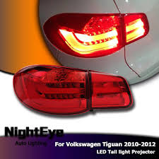 vw led tail lights nighteye vw tiguan tail lights 2010 2012 tiguan led tail light