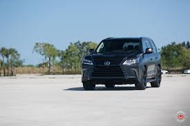 lexus lx 570 vs range rover lexus lx 570 gets murdered out look and vossen wheels autoevolution