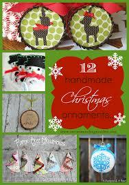12 handmade ornaments
