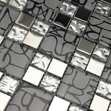 stainless steel tile backsplash ssmt266 kitchen mosaic glass wall
