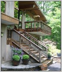 need suggestions for deck stairs landing on grass lisa dirbeto