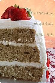 mocha chiffon cake with fresh strawberries sugar coated kitchen