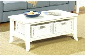coffee table with baskets under white end table with storage end coffee table with storage baskets