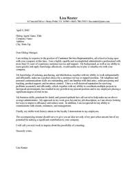 customer service sales cover letter manager cover letter sample