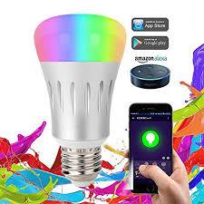 alexa light bulbs no hub smart led light bulb night light bulbs 16 million multi color