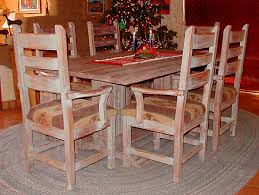 Southwest Dining Room Furniture Corrales Southwest Dining Set Tables Trestle Tables Chairs