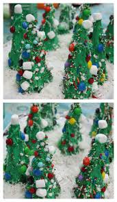 easy christmas craft for the kids frosting ice cream cone trees