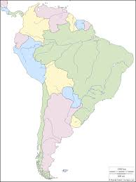 North And South America Map Blank by Map Of South America With Capitals