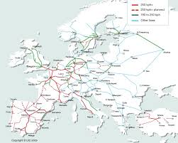 map or europe europe international high speed rail maps