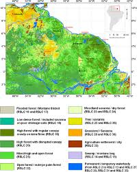 Map Types Map Of Landscape Types Of The Guiana Shield Based On A