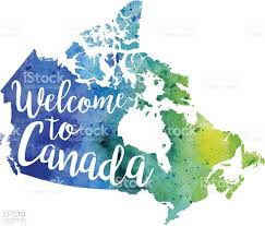 Map Canada by Welcome To Canada Vector Watercolor Map Stock Vector Art 623064726