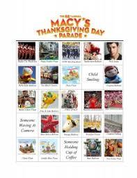 macys thanksgiving day parade bingo cards keeners