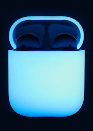 amazon com elago airpods silicone case nightglow blue extra