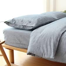 2017 left ear by japanese minimalist style washed cotton bed linen