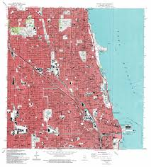 Chicago United States Map by Chicago Loop Topographic Map Il Usgs Topo Quad 41087h6