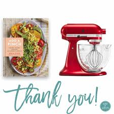 add a pinch cookbook kitchenaid mixer giveaway winners add a