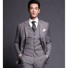 mens light gray 3 piece suit new light gray formal men s wedding suits slim fit 3 piece business