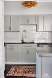 Kitchen With Gray Cabinets Most Popular Cabinet Paint Colors