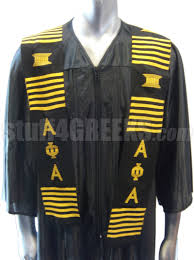 customized graduation stoles alpha phi alpha kente graduation stole