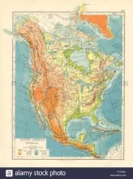 america map mountains america physical relief key mountains heights