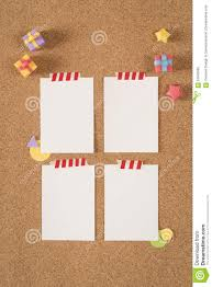 paper note template empty cork board office stock photo