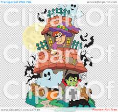 royalty free rf clipart illustration of a haunted house with