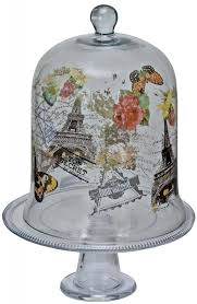 eiffel tower cake stand glass cake stand household essentials krosno handmade june