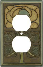 light almond switch plate covers art nouveau flower switch plates outlet covers rocker switchplates