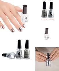 visit to buy love beauty female silver mirror metal color nail