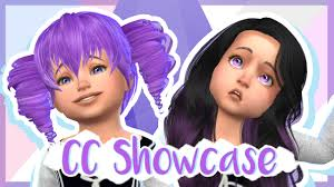 sims 4 custom content hair cc showcase toddlers yandere the sims 4 yandere babysitter